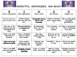 Underwood Way Thankful BINGO is Here!