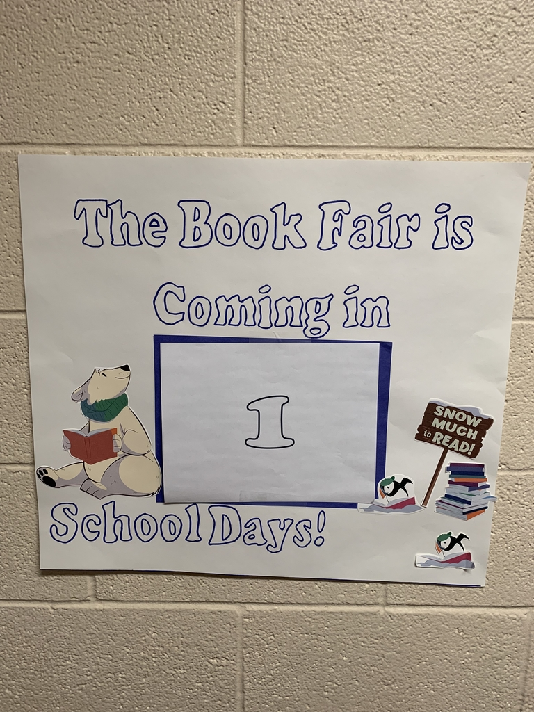The book fair is coming in 1 school day