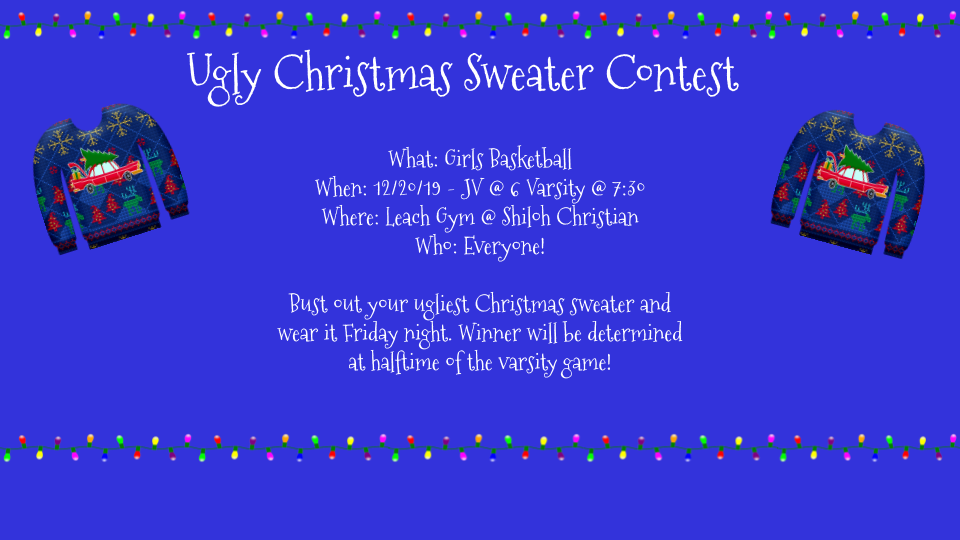 Ugly Christmas Sweater Flier